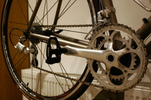 Veloce 50-43t compact chainset.