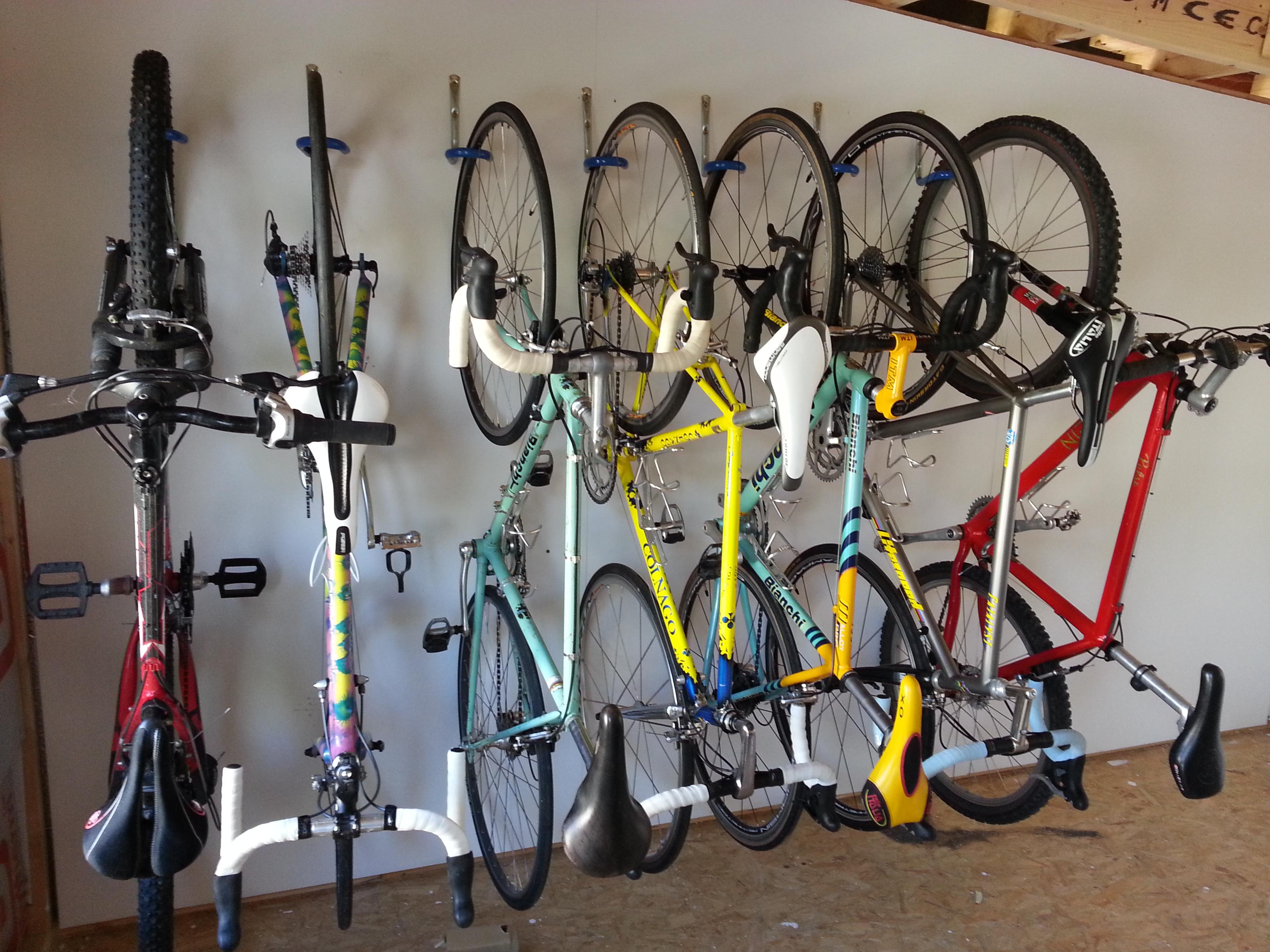 dahanger hanging wall pin hook floor your reclaim bike hanger space dan rack